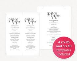create your own wedding program wedding program templates wedding templates and printables