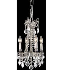 Pewter Ceiling Lights Lighting 9204d10pw Rc Rosalia 4 Light 10 Inch Pewter