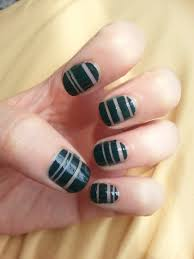 bare stripes nail art tutorial plus polish review nood mood