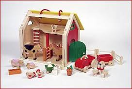 Toy Barn With Farm Animals Wooden Stables And Wooden Barn Toys Blueberry Forest Toys