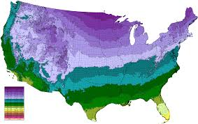 Chicago United States Map by Climate Types