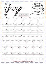 cursive handwriting tracing worksheets letter y for yo yo