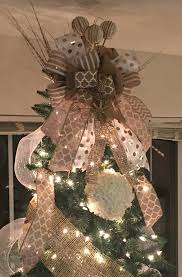 diy rustic shabby chic inspired burlap christmas tree topper trend