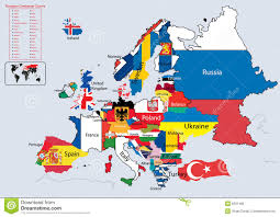 European Countries Map Flags Of European Countries With Names Image Gallery Hcpr