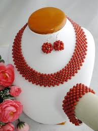Costume Jewelry Unique Beaded Design Free Shipping A 3509 Beauty 2017 New Design Coral Beads