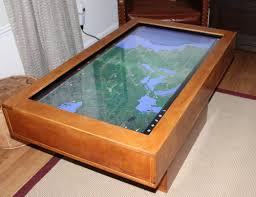 the giant coffee table touchscreen computer hammacher schlemmer is