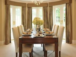 formal dining room curtain ideas floating black varnished pine