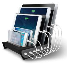 Electronic Charging Station | the 7 device charging station hammacher schlemmer