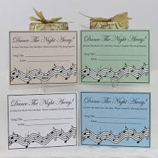 wedding song request cards wedding party song request cards the by delightfultrifles
