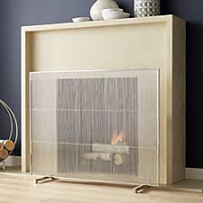 Baby Proof Fireplace Screen by Chevron Fireplace Screen Crate And Barrel