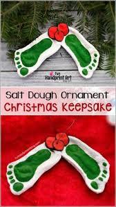 salt dough footprint snowman ornament 1 2 c flour 1 2 c salt