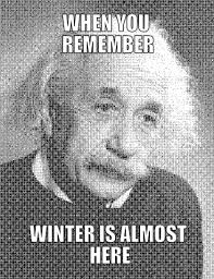 Einstein Meme - meme maker einstein hates winter
