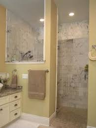 Open Shower Bathroom Design Shower Idea Half Wall No Door U2026 Pinteres U2026