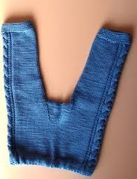 Light Blue Tights Hand Knit Baby Pants Merino Wool Leggings Light Blue Woolies