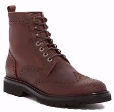 s boots lace up wolverine percy wingtip leather lace up s boots brown size 9