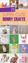 20 super cute bunny crafts for kids to make
