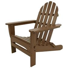 polywood classic teak patio adirondack chair ad5030te the home depot