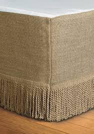 Burlap Curtains With Fringe Home Accents Burlap Bedskirt Belk