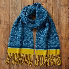 fair isle knitted fair isle tassel scarf by knitwear