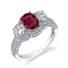 ruby diamond ring ruby engagement rings brides