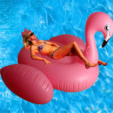 inflatable beach float air mattress for water swimming pink