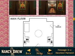 Haunted Mansion Floor Plan Nancy Drew Message In A Haunted Mansion Strategy Guide U003e Ipad