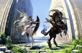 images horses unicorns horns wings girls fantasy angels supernatural