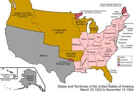 United State Map by United States Map On March 30 1822