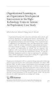 organizational learning as an organization development