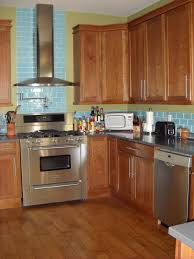 Blue Glass Kitchen Backsplash Subway Tile Kitchen Backsplash Cherry Cabinets Nice Idolza