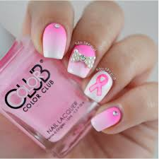 33 cute pink nail designs you must see breast cancer awareness