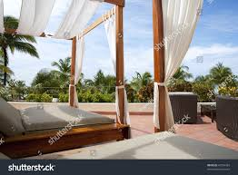 outdoor cabana bed caribbean resort 1st stock photo 67294393 outdoor cabana bed at a caribbean resort 1st person perspective