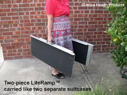 wheelchair ramps literamp 2 piece portable wheelchair and