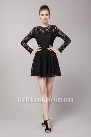 celebrity inspired short long sleeve party little black dress