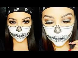 best glam glitter skull halloween makeup tutorial youtube