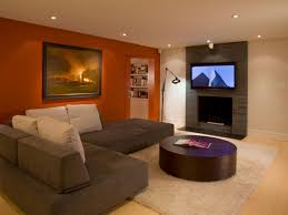 Best Color With Orange Best 90 Orange And Brown Living Room Decorating Ideas Decorating