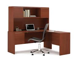 furniture mainstays l shaped desk with hutch in black wood for