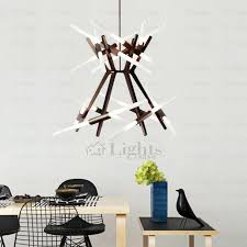 modern led coffee painting twig chandeliers for dinning room