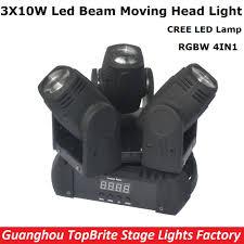 2017 sales led beam moving light 3 heads 3x10w mini wash