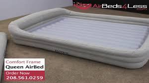 intex comfort frame raised queen air mattress youtube