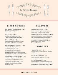 french menu the french hamilton menu the french menu menu for