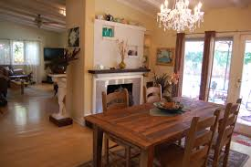 good looking small dining room with fireplace scenic rounded table