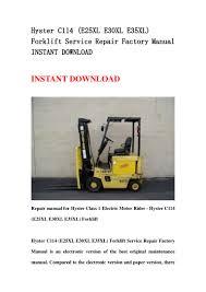 hyster c114 e25xl e30xl e35xl forklift service repair factory manua u2026