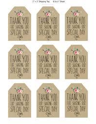 thank you tags printable wedding favor tags thank you printable tags