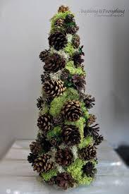 pinecone decorative tree trim the tree blog hop anything
