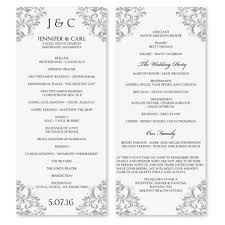 wedding program layout template templates for wedding programs best template exles