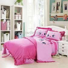 girl bedroom comforter sets girls bedroom decoration with embroidered cat pink bedding sets