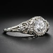 art deco vintage engagement rings wedding promise diamond