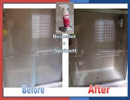 remove soap scum from glass shower door norwex descaler shower before and after norwex before and after