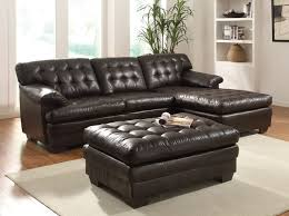 Contemporary Sectional Sofa With Chaise Acme Modern Brown Leather Sectional Sofa Couch Chaise Tuft Pillow Top